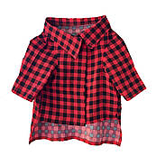 Рубашка для собак Noble Pet Kevin S Красно-черная (K4107R/S)