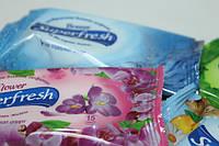 Салфетки влажные (SuperFresh) 15шт Виноград, Цветы, Морской Бриз