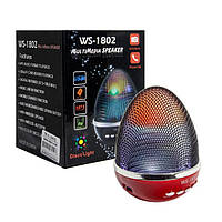 Портативная bluetooth MP3 колонка WSTER-1802 BT red