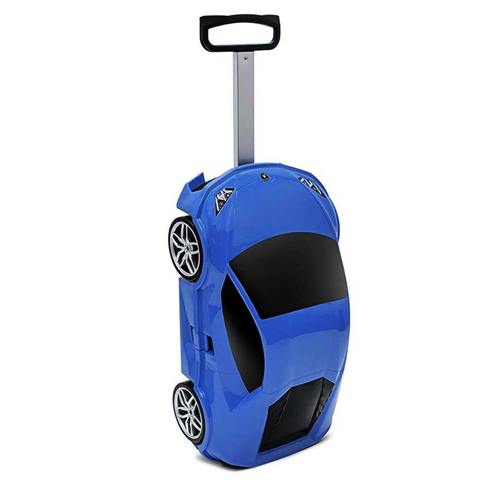Чемодан на колёсах машинка Lamborghini Huracan синий, «Ridaz» (91002W-Blue)