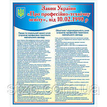 Стенд Закон України Про профтехосвіту