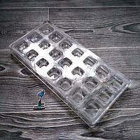 Поликарбонатная форма для шоколадных конфет №8 (Квадратные)