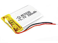 Акумулятор Li-рo 3.7В 200 мАг 402030