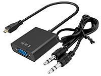 Адаптер перехідник micro-HDMI в VGA + Audio вихід MICRO - HDMI в VGA