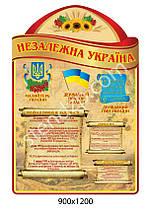 Стенд Кабинет истории Украины Подсолнухи (бежевый)