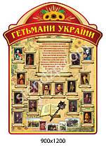 Стенд Кабинет истории Украины Гетьманы