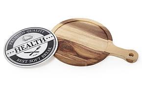 Деревянная доска для сыра (десерта) с фарфоровой вставкой, 38см, 982-313, фото 2
