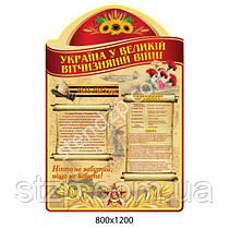 Стенд Кабинет истории Украины (красный заголовок)