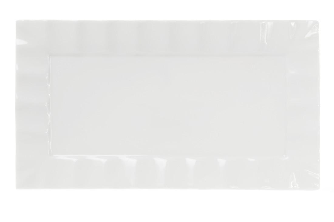 Тарелка для суши прямоугольная 30см, цвет - белый, 988-104