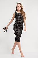 Красивое платье из кружевного черного гипюра на подкладке весна-лето 2020 размеры 42,44,46