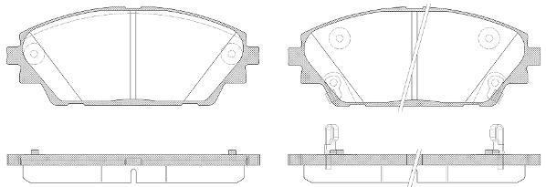 Remsa 1569.02 тормозные колодки (передние) MAZDA 3, MAZDA CX-3
