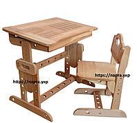 Парта и стул из дерева бук, Алфавит , фото 1