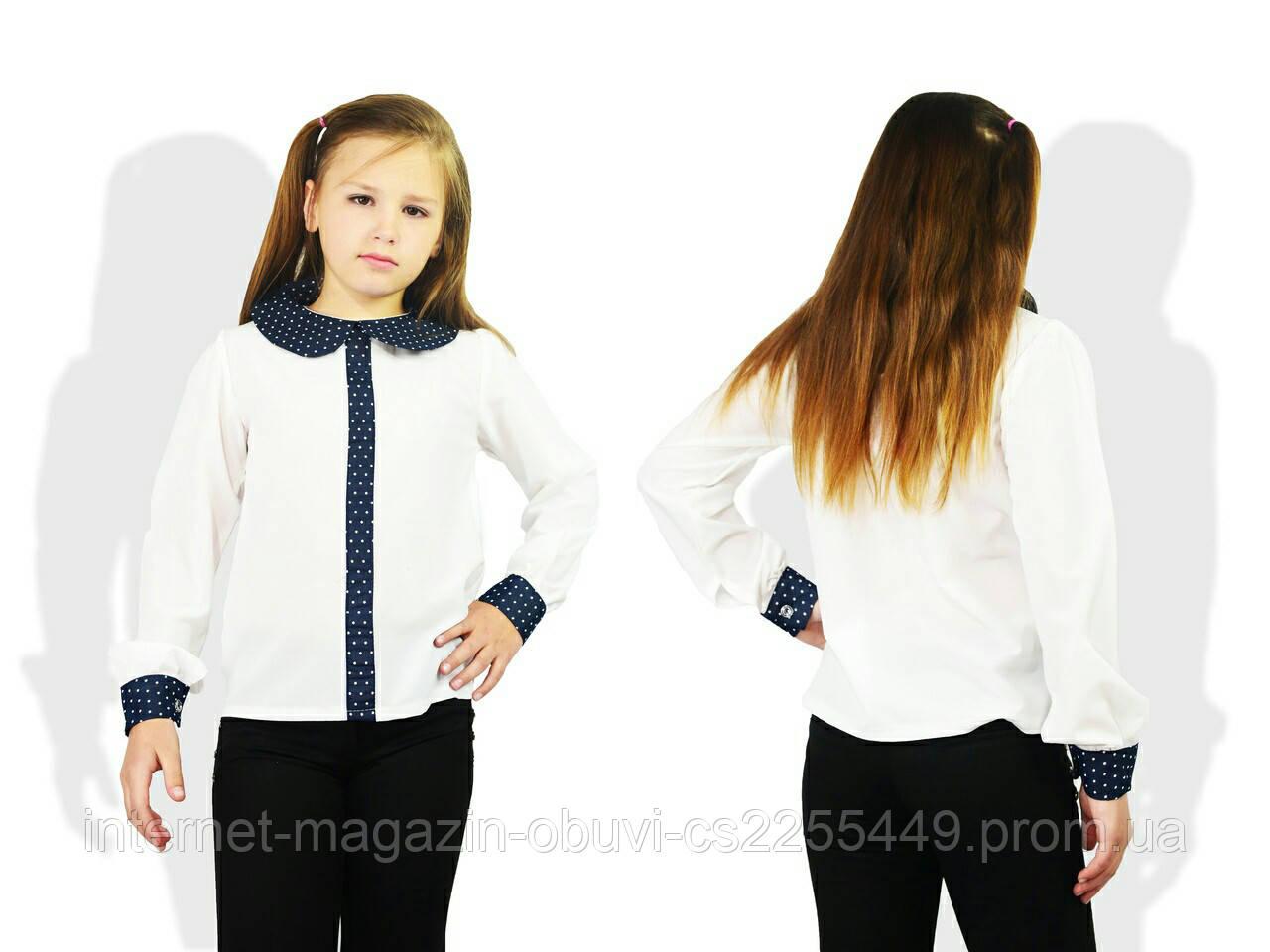 233e325c7cc Красивая школьная блузка для девочек от 128 до 146 см рост  продажа ...