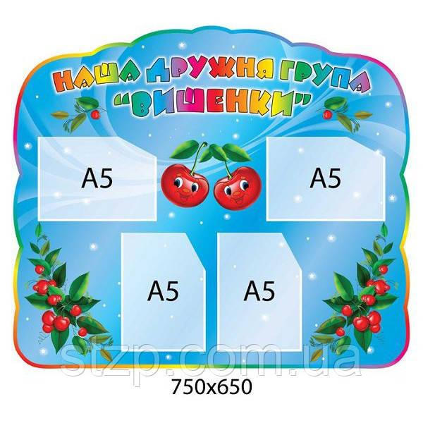 Визитка группы Вишенки (карманы А5)
