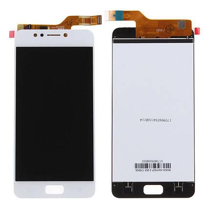Дисплей (экран) для Asus ZenFone 4 Max (ZC520KL) с сенсором (тачскрином) белый Оригинал, фото 2