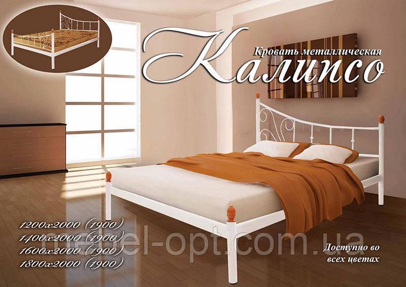 Металлическая кровать Калипсо, Возможность выбора цвета и структуры выкраски 120х190 см
