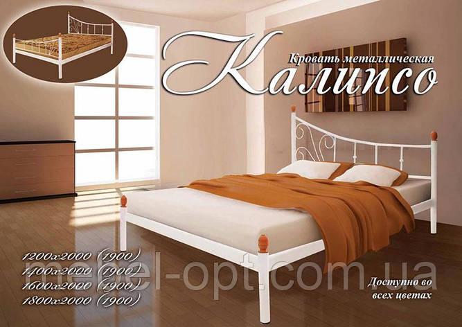 Металлическая кровать Калипсо, Возможность выбора цвета и структуры выкраски 120х190 см , фото 2
