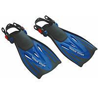 Ласты для плавания Aqua Speed Wombat Kid 32-37 Черно-синие (aqs012)