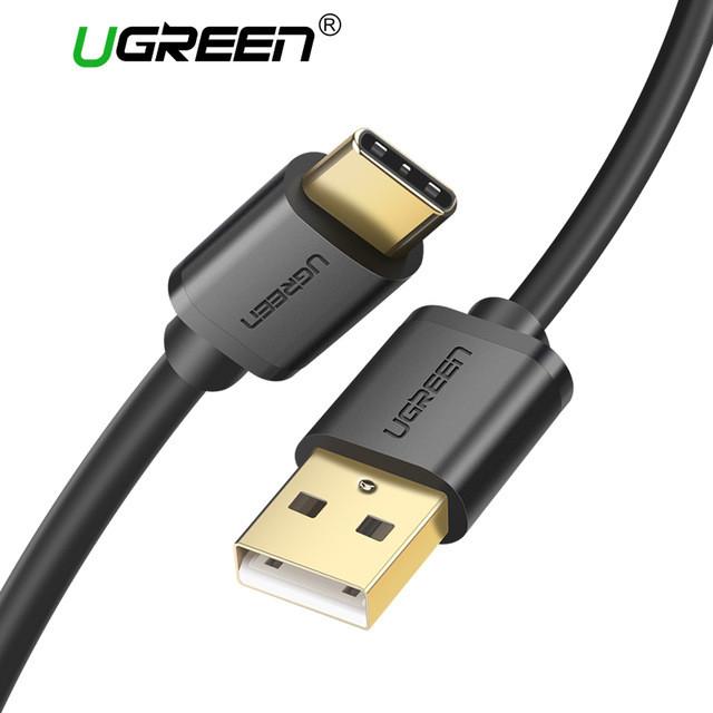 Кабель USB UGREEN Type-C USB 1m 2.4A чорний
