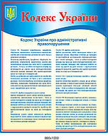 Стенд Кодекс України (червоний заголовок)