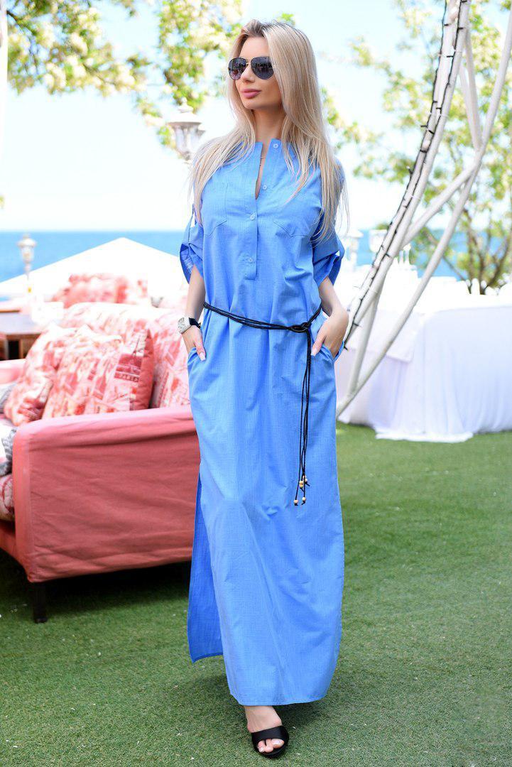 60c4bec2775 Женское летнее платье макси свободного кроя -