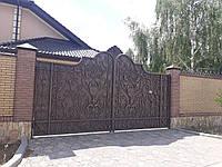 Ворота откатные кованые №14
