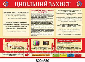 Стенд Гражданская защита (беж и красный)