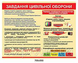Стенд Задания гражданской защиты Информация