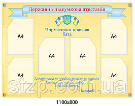 Стенд Государственная итоговая аттестация (желтый)