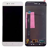 Дисплей для Xiaomi Mi A1/Mi5x с тачскрином белый Оригинал