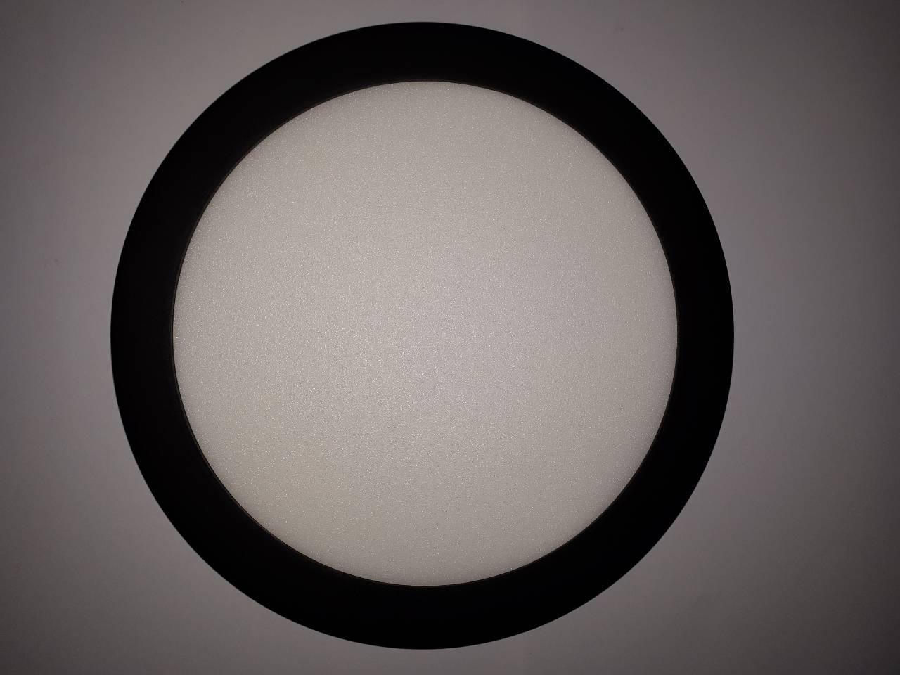Светильник круглый LED 18 Вт металл Черный GALAXY