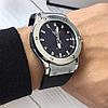 Мужские Часы Hublot Geneve Silver Хублот, чоловічий годинник, серебряный, фото 2