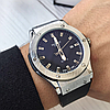 Мужские Часы Hublot Geneve Silver Хублот, чоловічий годинник, серебряный, фото 3