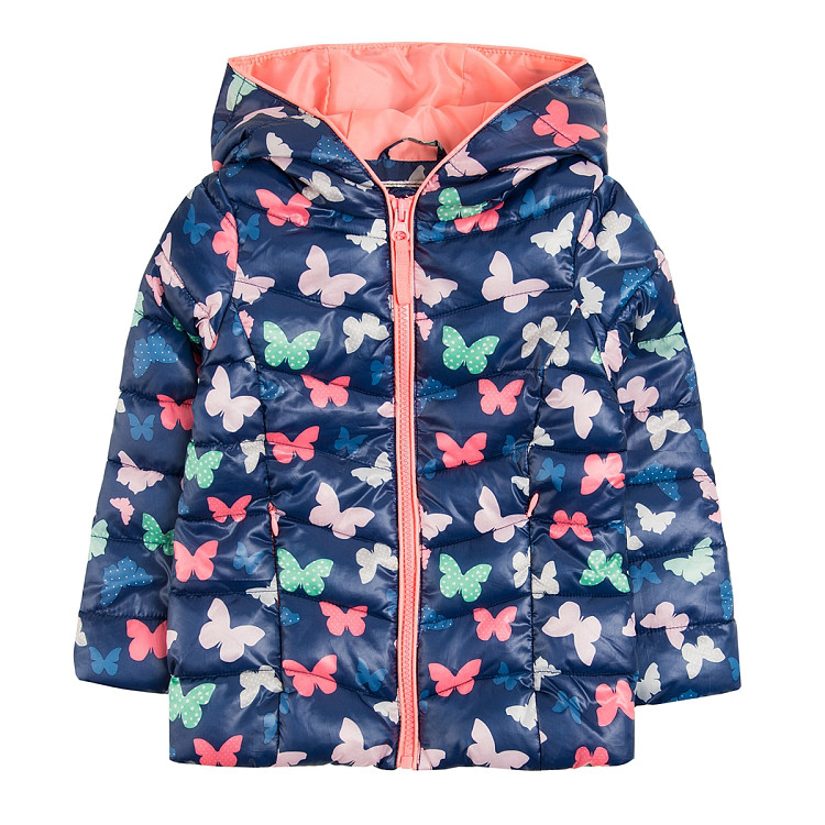 Осенняя куртка с бабочками на девочку 6-7 Smyk Польша Размер 122