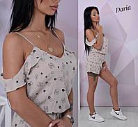 Комбинезон стильный женский с модным принтом разные расцветки Dch1070, фото 1