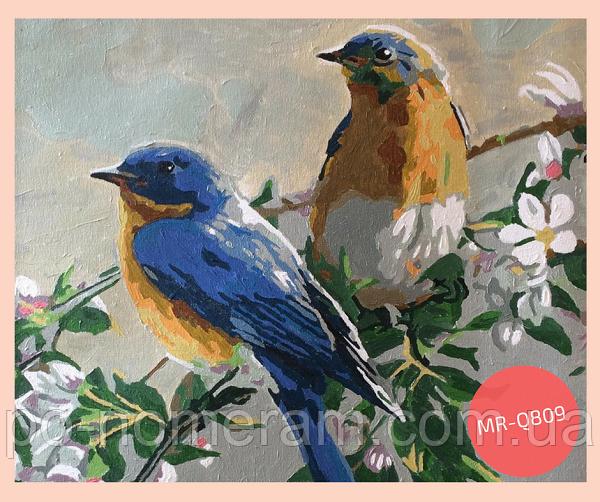 картина своими руками птицы