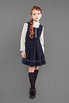 Сарафан школьный для девочки (синий)  размер 122-128-134-140-146