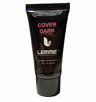 Полигель (акригель) Lemme Cover Dark - камуфляж темно-розовый, 30 мл
