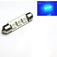 LED лампа C5W (blau) CANBUS 42мм 3 SMD5050 12V цвет синий