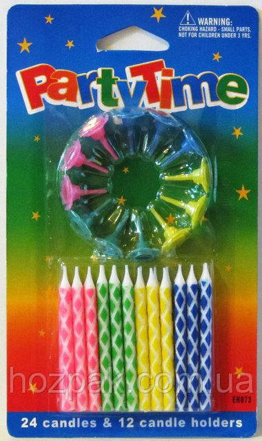 Набор свечей для торта (24 шт). Артикул E24-B