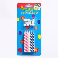 Свічки для торта. 10 свічок для дня народження з підставками