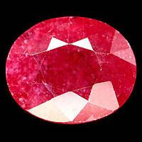 11.07 кт. Природный рубин овал 13.5 х 11.5 мм., фото 1