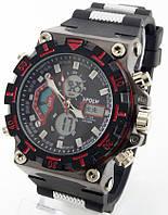 Спортивные наручные часы Hpolw (черные + красные), фото 1