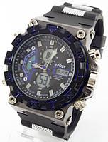 Спортивные наручные часы Hpolw (черные + синие), фото 1