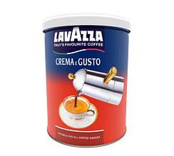 Молотый кофе Lavazza Crema e Gusto 250гр ж/б