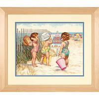 Набор для вышивания крестом Девочки на пляже/Beach Babies DIMENSIONS 35216