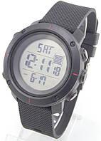 Спортивные наручные часы Skmei (черные + красные метки), фото 1