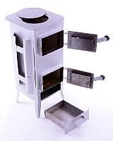 Печь буржуйка стальная 170 м2 9 шамотных кирпичей (шамотная піч стальна шамотної цегли)