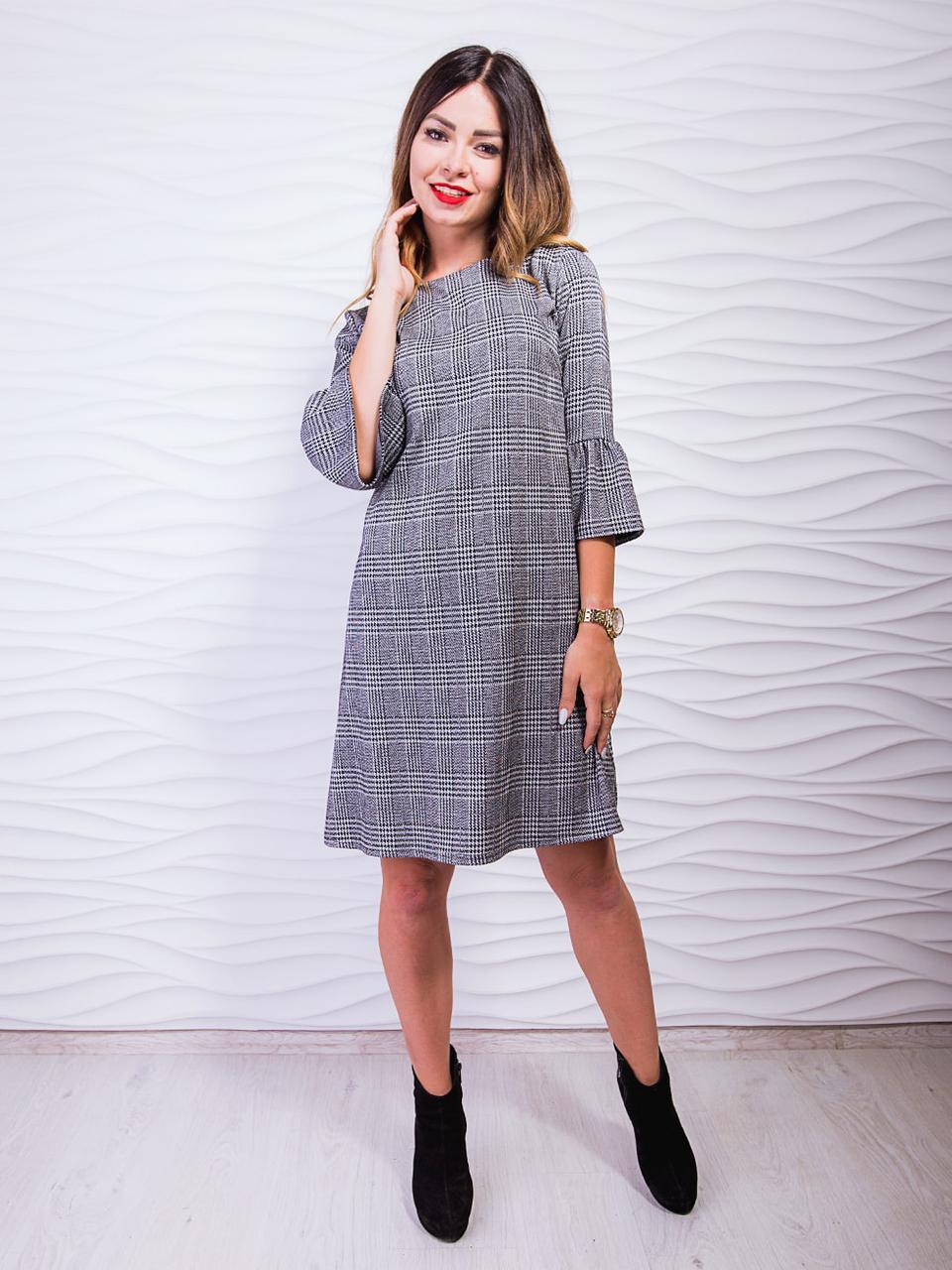 ad6fe1b935f Женское платье в клетку - оптово - розничный интернет - магазин