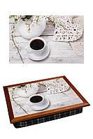 Поднос подушка для завтрака в постель BST 040373 44*36 коричневый в стиле прованс